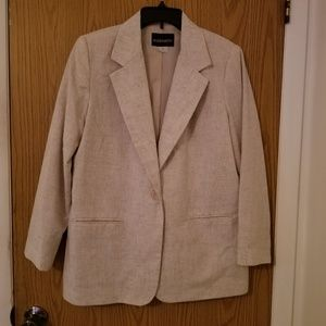 Requirements lined linen jacket